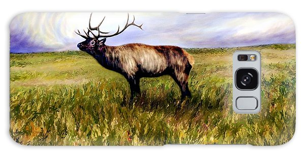 Elk At Dusk Galaxy Case by Ric Darrell