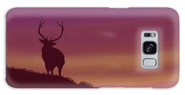 Elk At Dusk Galaxy Case by Terry Frederick