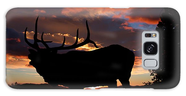 Elk At Sunset Galaxy Case