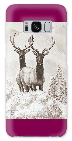 Elk Encounter Galaxy Case