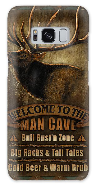Elk Man Cave Sign Galaxy Case