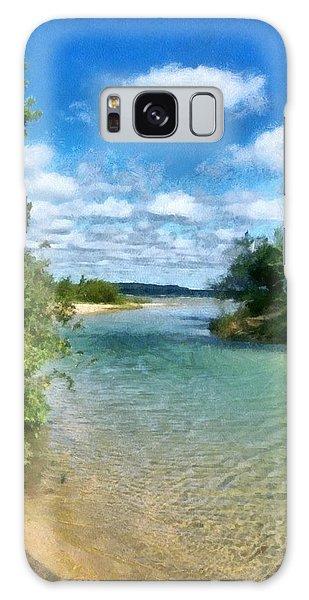 Elk River- Elk Rapids Michigan Galaxy Case