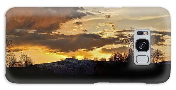 Elk River N Pilots Nob Sunset Ver 2 Galaxy Case by Daniel Hebard