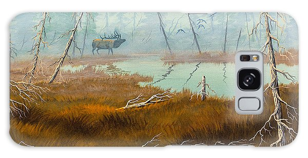 Elk Swamp Galaxy Case by Richard Faulkner
