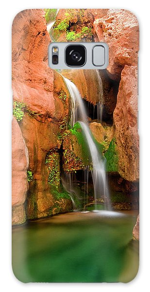 Chasm Galaxy Case - Elves Chasm Waterfall, Grand Canyon by Josh Miller