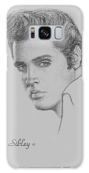 Elvis In Charcoal Galaxy Case by Loxi Sibley