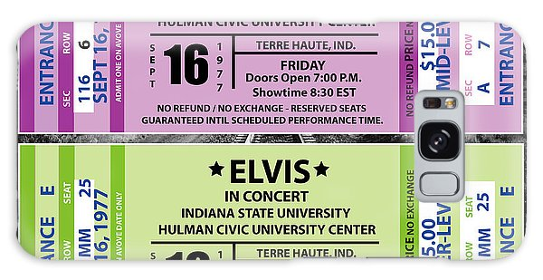 Elvis Presely Tickets Galaxy Case by Marvin Blaine