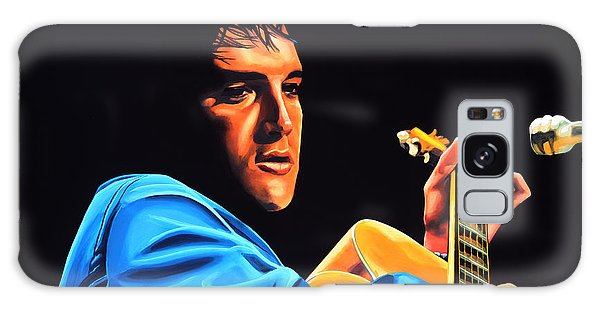 B B King Galaxy Case - Elvis Presley 2 Painting by Paul Meijering