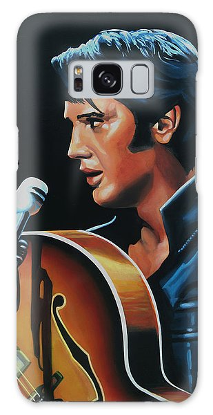 Rock And Roll Galaxy S8 Case - Elvis Presley 3 Painting by Paul Meijering