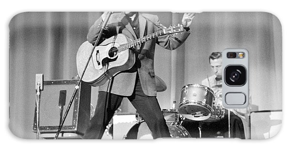 Two People Galaxy Case - Elvis Presley And D.j. Fontana Performing In 1956 by The Harrington Collection