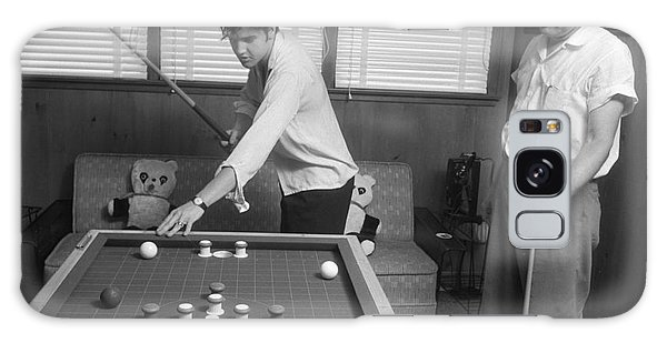 Elvis Presley And Vernon Playing Bumper Pool 1956 Galaxy Case by The Harrington Collection