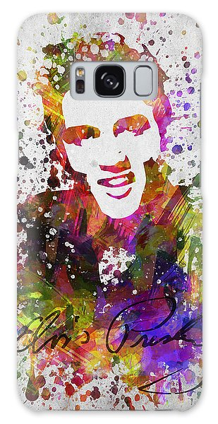 B B King Galaxy Case - Elvis Presley In Color by Aged Pixel