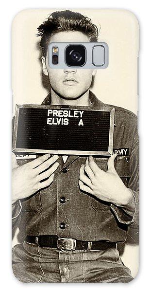 Elvis Presley - Mugshot Galaxy Case by Bill Cannon