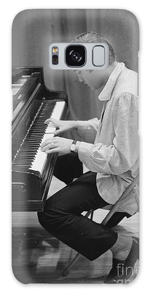 Rock Music Galaxy Case - Elvis Presley On Piano While Waiting For A Show To Start 1956 by The Harrington Collection
