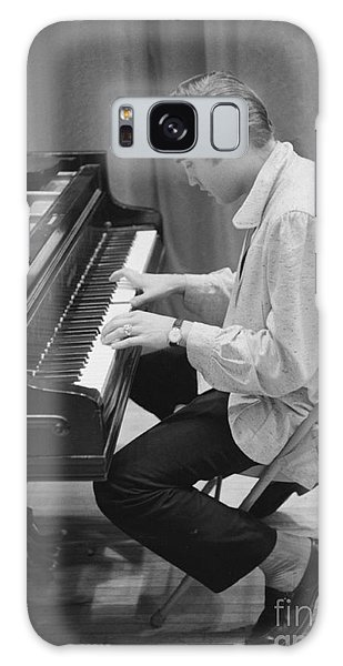 Musicians Galaxy Case - Elvis Presley On Piano While Waiting For A Show To Start 1956 by The Harrington Collection
