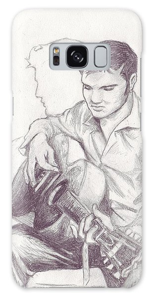 Elvis Sketch Galaxy Case