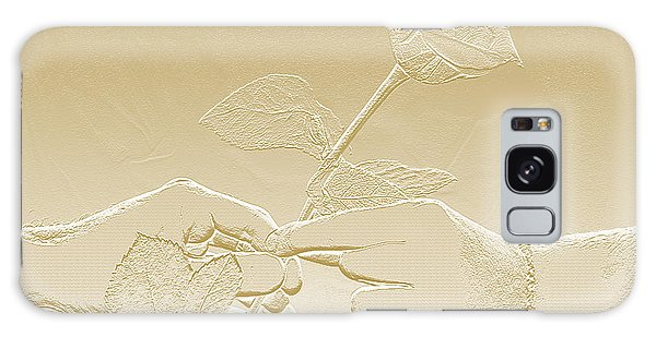 Embossed Gold Rose By Jan Marvin Studios Galaxy Case