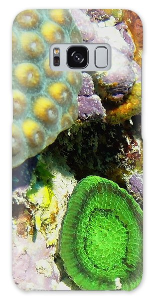 Emerald Artichoke Coral Galaxy Case