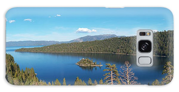 Emerald Bay Lake Tahoe Panorama Galaxy Case