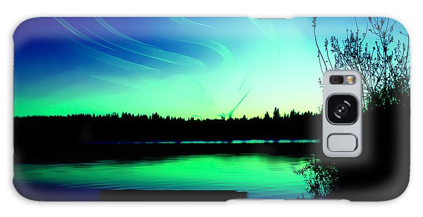 Emerald City Sunset At Lake Ballinger Galaxy Case
