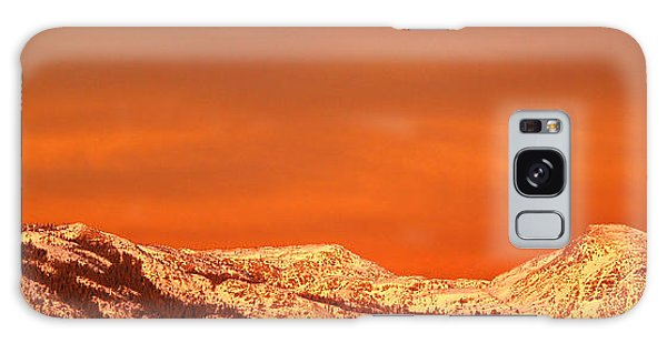 Mountain Sunset Galaxy S8 Case - Emigrant Gap by Bill Gallagher