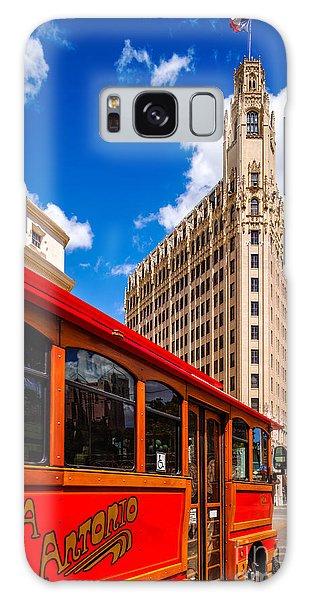 Emily Morgan Hotel And Red Streetcar - San Antonio Texas Galaxy Case