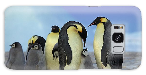 Emperor Penguin Parents And Chick Galaxy Case
