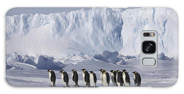 Emperor Penguins Walking Antarctica Galaxy Case