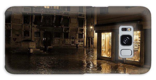 Winter's Night In Venice Galaxy Case by Marion Galt