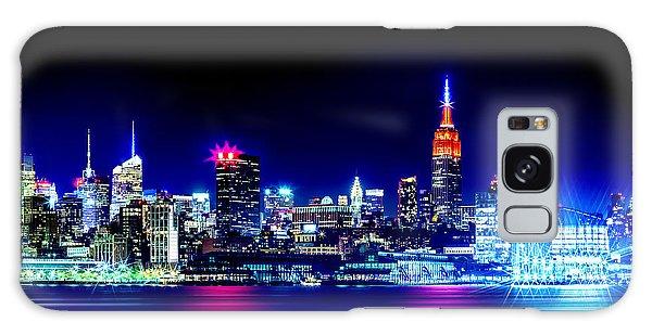 Empire State At Night Galaxy Case by Az Jackson