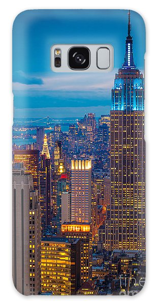 Urban Galaxy Case - Empire State Blue Night by Inge Johnsson