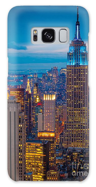 Architecture Galaxy Case - Empire State Blue Night by Inge Johnsson