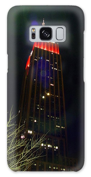 Empire State Building And Green Tree Galaxy Case