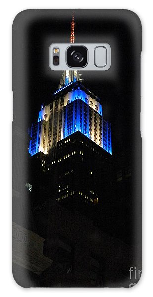 Empire State Building At Night Galaxy Case by Emmy Marie Vickers