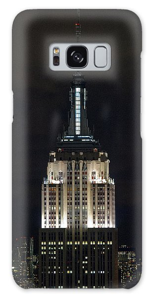 Empire State Building At Night Galaxy Case