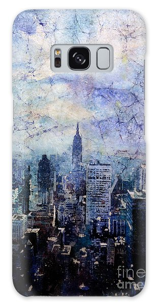 Empire State Building In Blue Galaxy Case