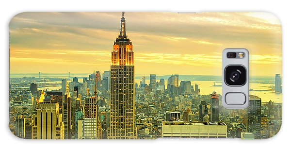 Empire State Building In The Evening Galaxy Case by Sabine Jacobs