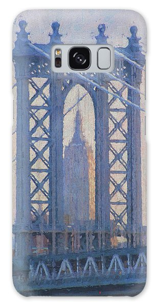 Empire State Building Through The Manhattan Bridge Galaxy Case by Jean-Pierre Ducondi
