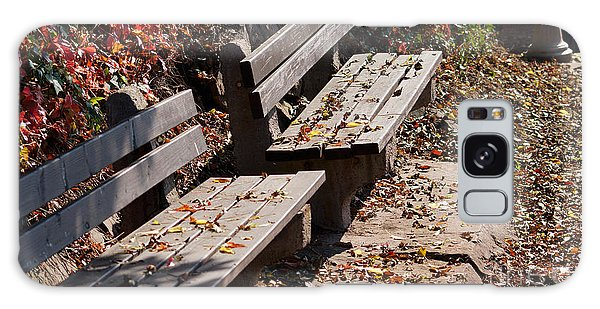 Empty Benches In Autumn Galaxy Case