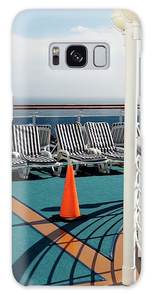 Cloudscape Galaxy Case - Empty Lounge Chairs On A Cruise Ship by Ron Koeberer