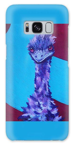 Emu Eyes Galaxy Case by Margaret Saheed
