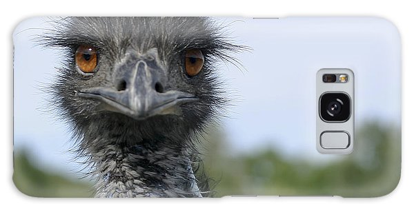 Emu Gaze Galaxy Case by Belinda Greb