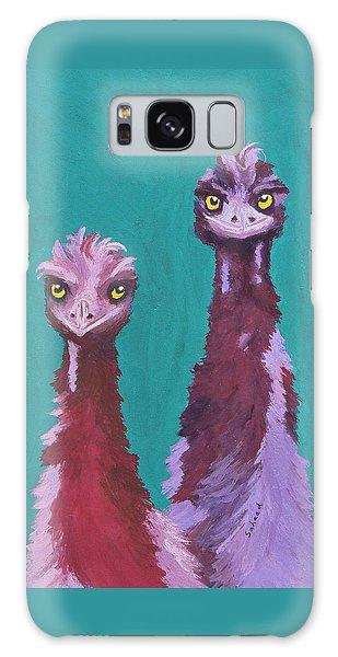 Emu Watch Galaxy Case by Margaret Saheed