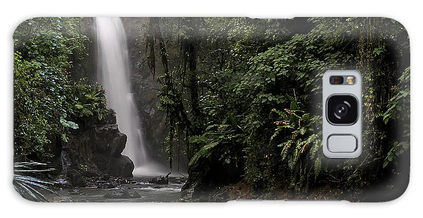 Encantada Waterfall Costa Rica Galaxy Case