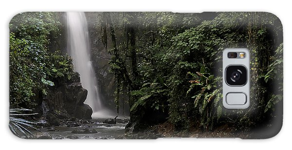 Encantada Waterfall Costa Rica Galaxy Case by Teresa Zieba
