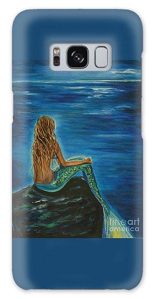 Enchanted Mermaid Beauty Galaxy Case by Leslie Allen