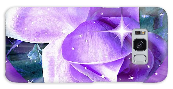 Enchanted Rose Galaxy Case by Judy Palkimas