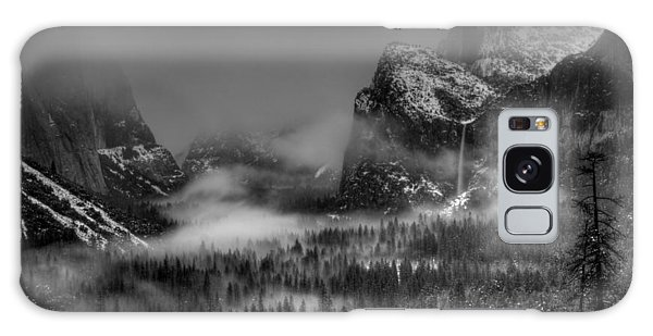 Enchanted Valley In Black And White Galaxy Case