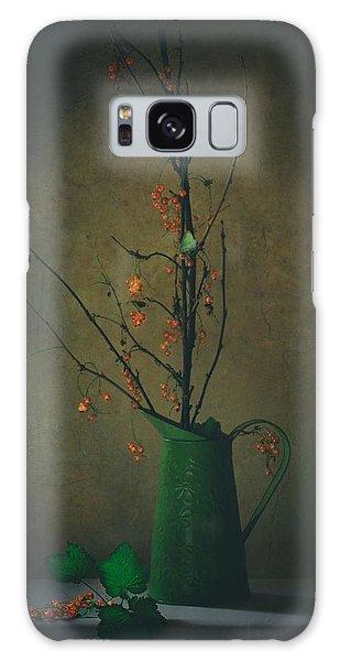 Green Leaf Galaxy Case - End Of Summer by Delphine Devos