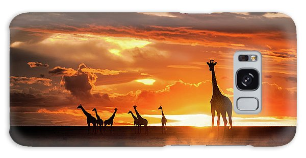 Giraffe Galaxy Case - End Of The Day by Mohammad Mirza